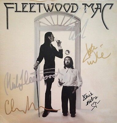 Fleetwood Mac Autographed Debut LP Signed By All 5 Original