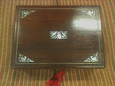 Ladies Victorian Rosewood Sewing Box