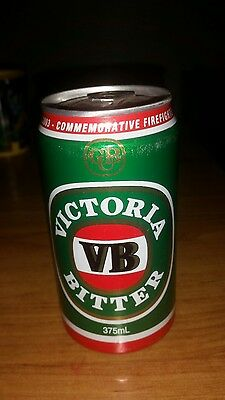 victorian bitter l FIRE FIGHTERS COMMEMORATIVE CAN 2003 RARE  14 yrs old sealed