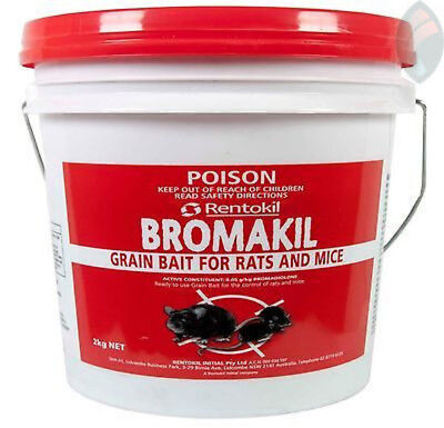 Bromakil Grain Super Rat Bait 2kg Bucket