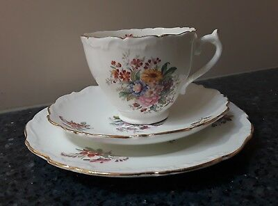 Coalport Fragrance Cup, Saucer & Side Plate Trio Made in England