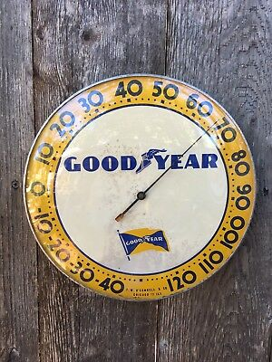 """Vtg Original Goodyear T.W. O'Connell 9 3/4"""" Advertising Working Thermometer"""