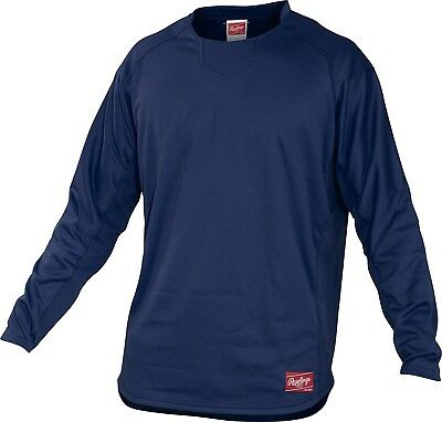(X-Large, Navy) - Rawlings Youth Dugout Fleece Pullover. Rawlings Sporting Goods