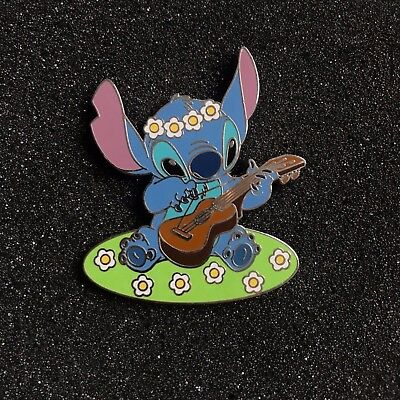 Japan Disney LE 100 Year of STITCH March Playing Ukulele Flowers Pin JDS Lilo