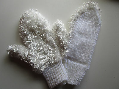 hand knitted childs mittens