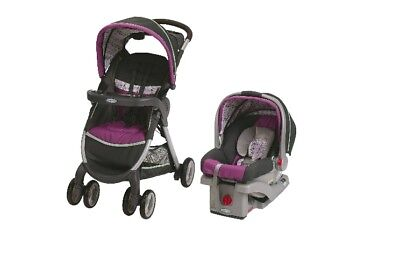 Graco FastAction FoldClick Connect Travel System Nyssa Car Seat + Stroller Combo