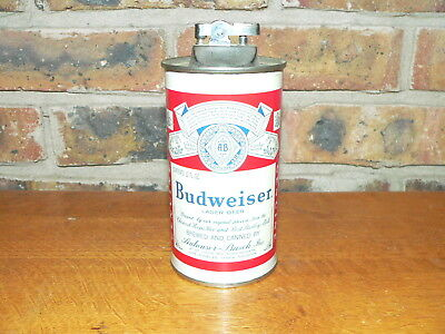 Vintage Budweiser Beer Can Table Lighter Made by Kramer Products of St. Louis