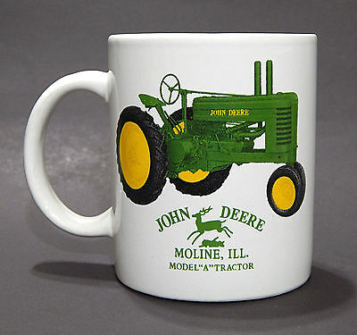 John Deere Licensed Mug Coffee Tea Cup Model A Tractor Moline ILL 12 ounces