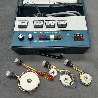 Heathkit IT-5230 CRT Tester and Rejuvenator with Adapters Test Equipment Meter