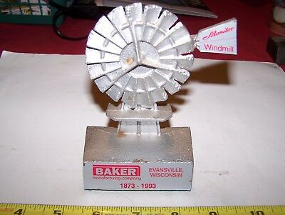 Old Cast Iron BAKER MONITOR Windmill Paperweight Hit Miss Gas Engine Pump NICE!