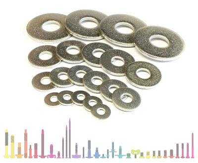 A2 Stainless Steel Din 9021 Form G Wide Thick Flat Washers Metric Sizes M2 - M20