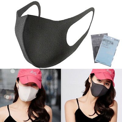 3Pcs Cycling Anti Dust Haze Flu Sponge Mouth Half Face Mask Respirator Reusable