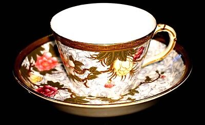 Victorian Worcester Cup And Saucer Circa 1882 From Dr Peter Elliot Collection