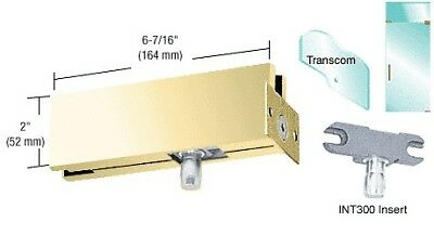 Brass Wall Mounted Transom Patch with 1NT300 Insert
