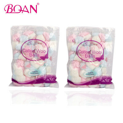 100 Colorful Cotton Wool Balls Nail Polish Remover Cotton Art Accessories Tool