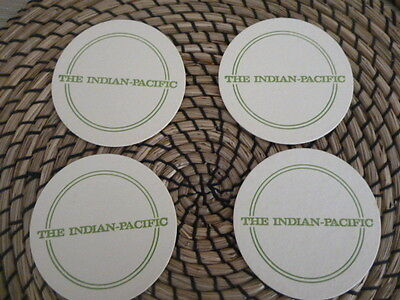 The Indian - Pacific beer mats x 6 in great condition iconic train journey