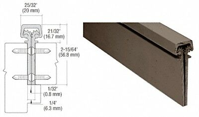 """Dark Bronze Anodized 300 Series Standard Duty Concealed Continuous Hinge - 83"""""""