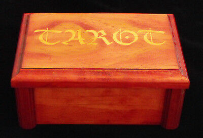 Tarot Card Box Wooden Handmade Stained Keep Sake Box Jewels Cards Two Piece New