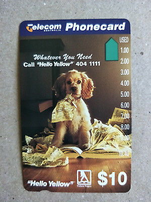 Unused $10 Hello Yellow Phonecard Prefix 875