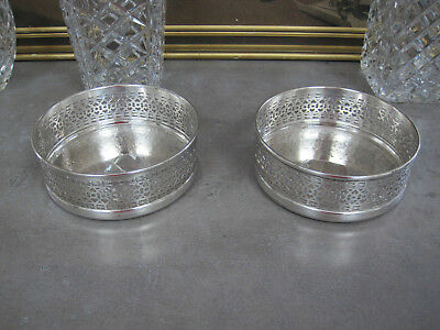 Pair of Strachan Silver Plated Wine Coasters