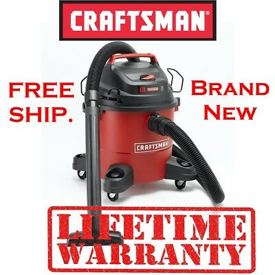 CRAFTSMAN Wet Dry 6 Gallon Gal Vacuum Hand Carry Handle, Great for Cars Indoors