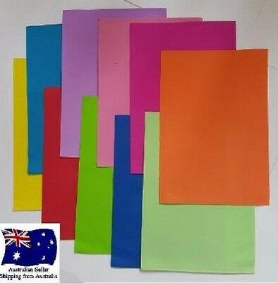 10 Sheets EVA Fun Foam Paper A4 1mm Assorted Colours Art Hand Craft DIY KIDS