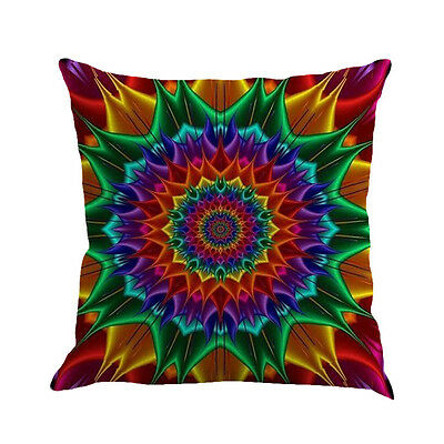 Geometry Painting Linen Cushion Cover Throw Pillow Case Sofa Home Decor Multicol