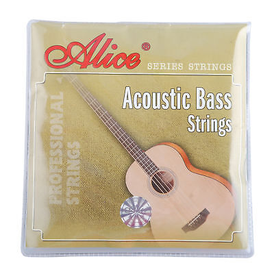 1Set Alice 4 Strings Acoustic Bass Strings Steel Core for 4-String Acoustic Bass