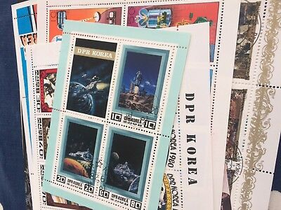 Korea 38 miniature sheets all different thematic used cto