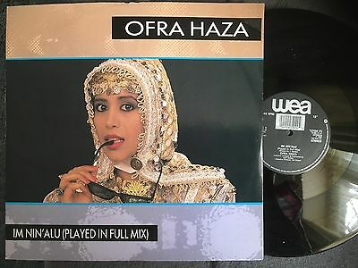 "Ofra Haza - Im NIn'Alu  -  12"" single - 1988 , Israelie pop"