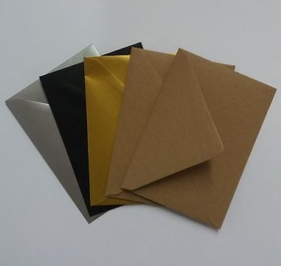 C5 A5 Envelopes for Greeting Cards 162 x 229mm 100gsm Gold Silver Ivory Black