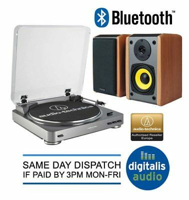 Audio-Technica AT-LP60 USB Turntable and Edifier R1000TCN Active Speaker Package
