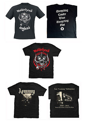 Motorhead T-Shirt England Lemmy Lived To Win Lightning Wreath Official Band Tee