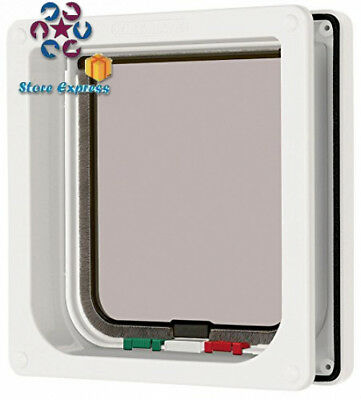 Cat Mate 4 Way Locking Flap with Door Liner to 50mm - White