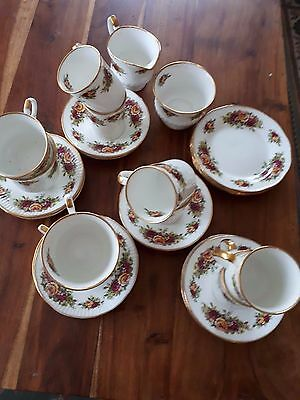 Elizabethan 'english Garden' Fine China Tea And Coffee Set. 27 Pieces. Good Cond