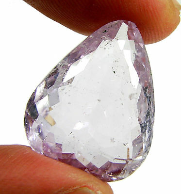 24.80 Ct Certified Natural Pink Kunzite Loose Pear Gemstone Stone - 130482