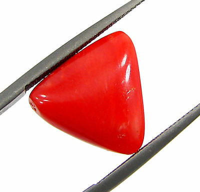 5.49 Ct Certified Natural Red Coral Loose Gemstone Triangle Stone - 130532