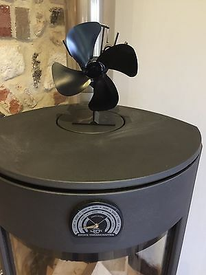 Mini Heat Powered Stove Fan By EcoFlow For Log Burner 4 Blade Fan