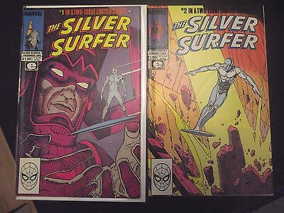 The Silver Surfer #1-2 Limited Series Epic Comics 1988 Galactus appears VG