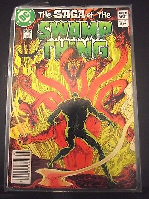 The Saga of the Swamp Thing #13 Newsstand edition DC FN-