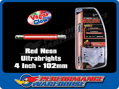 Vegas Glow Ultrabrights 4 Inch Neon Red Pulses To Music Car Ute Boat