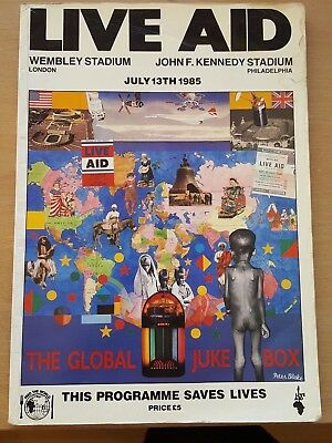 Live Aid 1985 Official Programme