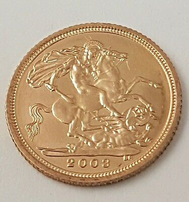 (1) Gold Elizabeth 2003 Half Sovereign Coin