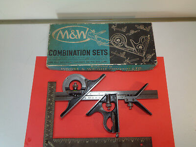 Moore and Wright combination square protractor set 990P/12 LOTMTMMRT4