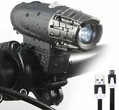 USB Rechargeable 360° Rotation Bike Bicycle Front Lamp Headlight + Flash Light G
