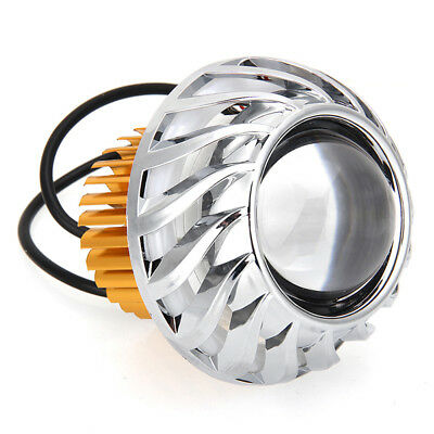1x Motorcycle Hi-Lo LED Halo Projector Headlight Red Angel Eye White Devil Eye