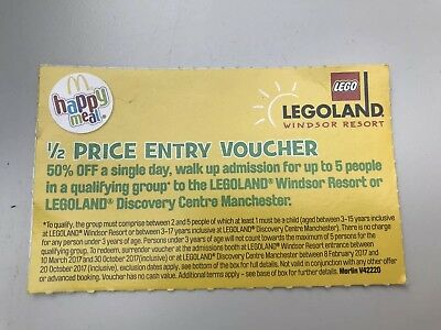 Legoland Windsor or Manchester 1/2 Price Entry Voucher For Up To 5. Free Postage