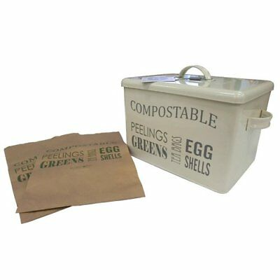 Burgon   Ball Compost bin - Jersey Cream