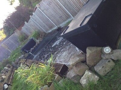 Complete Koi Pond, Fish, Filters, Pumps, Sleepers. Oase Biotec 36 Screenmatic