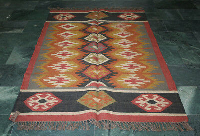 Turkish Kilim Area Boho Hallway Livingroom Rug Office Rug Wedding Rug 3x5